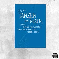 Postkarte Regentanz