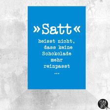 Postkarte Satt