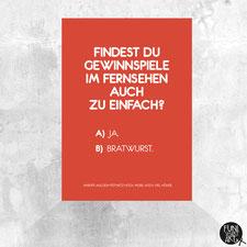 Postkarte Bratwurst