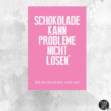 Postkarte Schokoapfel