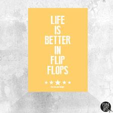 Postkarte Flip Flops