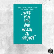 Postkarte Die Frage