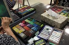 パステル画教室 画材