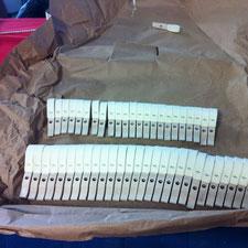 Comment arrivent les marteaux de piano Steinway Modèle D 274?