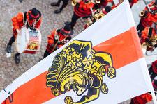 Hans-Kuony-Fahne an der Adler-Post