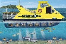 Vision sous-marine au port de La Coudoulière