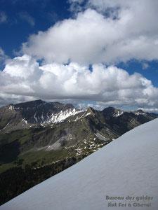 Hauts Forts, Fornet, Vorlaz vus depuis le sommet du Pas de la Latte