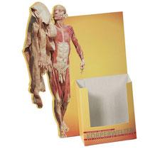 Konturdispenser für Flyer oder Postkarten aus Pappe. mit Kontur. Für DIN A6, A7, A4 oder A5