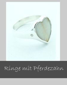 Verlorener Ring neu, Pferdezahn Ring, Ring anfertigen lassen.