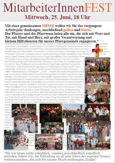 Einladung zum Mitarbeiterfest 2014
