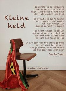 Gedicht Kleine held - Weduwe in Opleiding - Sascha Groen