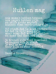 Gedicht Huilen mag - Weduwe in Opleiding - Sascha Groen