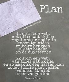 Gedicht Plan - Weduwe in Opleiding - Sascha Groen