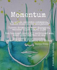 Gedicht Momentum - Weduwe in Opleiding - Sascha Groen