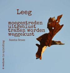 Gedicht Leeg - Weduwe in Opleiding - Sascha Groen