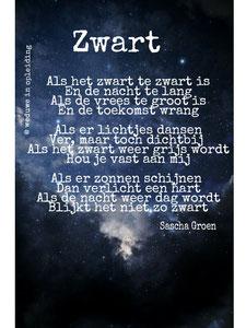 Gedicht Zwart - Weduwe in Opleiding - Sascha Groen