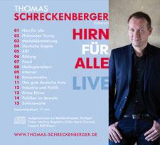 Thomas Schreckenberger - Hirn für alle - Live. Rückseite