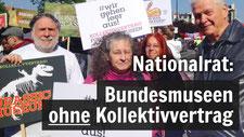 Seit Jahren gefordert: Ein Kollektivvertrag für die Österreichischen Bundesmuseen. Foto: AUGE/UG