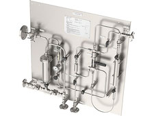 Hot Gas liquefied gas sampling station, lpg gas sample cooler bypass sampler closed loop, no emission, cylinder sampler