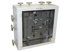 Gas sampling cabinet, expansion cylinder liquefied gas sampler closed loop, no emission, cylinder sampler