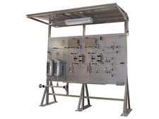 Multiple Liquid sampling rack system, on-off - bypass - needle purge - fixed volume sampler closed loop, no emission