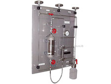 Gas sampling station, LPG NGL sampler closed loop, no emission, cylinder sampler, wet gas drain