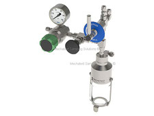 Bypass & Needle purge liquid sampler A7, bottle sampler  closed loop emission free sampling of toxic, dangerous liquids