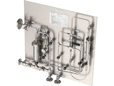 Hot Gas Liquefied gas sampling station, sample cooler bypass sampler closed loop, no emission, cylinder sampler