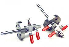 DBB valve and sample probe
