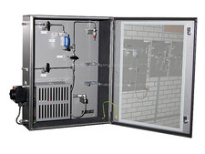 LPG Gas liquefied gas sampling cabinet, sample cooler bypass sampler closed loop, no emission, cylinder sampler