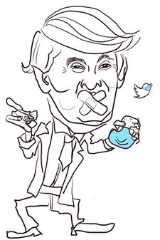 Donald Trump erhält einen Corona Maulkorb für Twitter