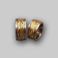 Trauringe, Silber,Gold,Ausgefallen,Künstlerisch, Breit, Schwer