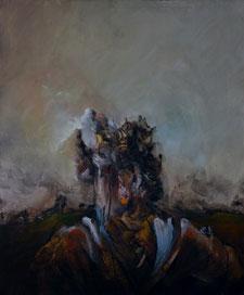 """""""Portrait II"""" Acrylique sur toile dim 55cmx46cm"""