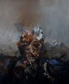 """""""Portrait III"""" Acrylique sur toile dim 55cmx46cm"""