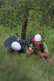 Bergwacht Chiemgau; Bergretter; Bergwacht rettet Hund; BRK BGL