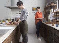 レミュー 2人で使っても使いやすいキッチン