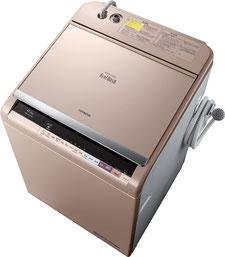 日立の洗濯機 ビートウォッシュはナイアガラすすぎでとても清潔です。