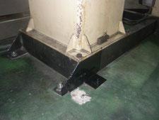 機械架台の補修:工事中写真