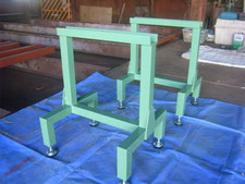 作業台脚部の製作:工事中写真