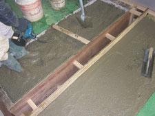 工場内通路と排水溝蓋の改修:工事中写真