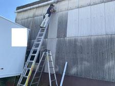 スレート壁の取り替え:工事中写真