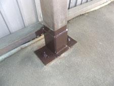 柱脚補修工事:工事後写真