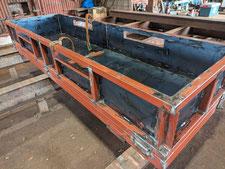 腐食手摺の補強補修:工事中写真