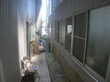 店舗引戸の新設:工事前写真