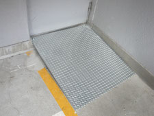メッキ鋼板スロープ:工事後写真