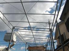 テント倉庫:工事中写真