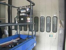自動ハンガードアのカバー:工事中写真