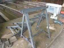 作業台の製作:工事中写真