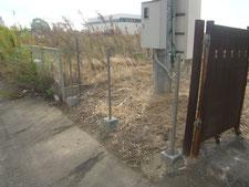 フェンスの取り替え:工事中写真
