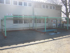 自転車置き場の移設:工事中写真